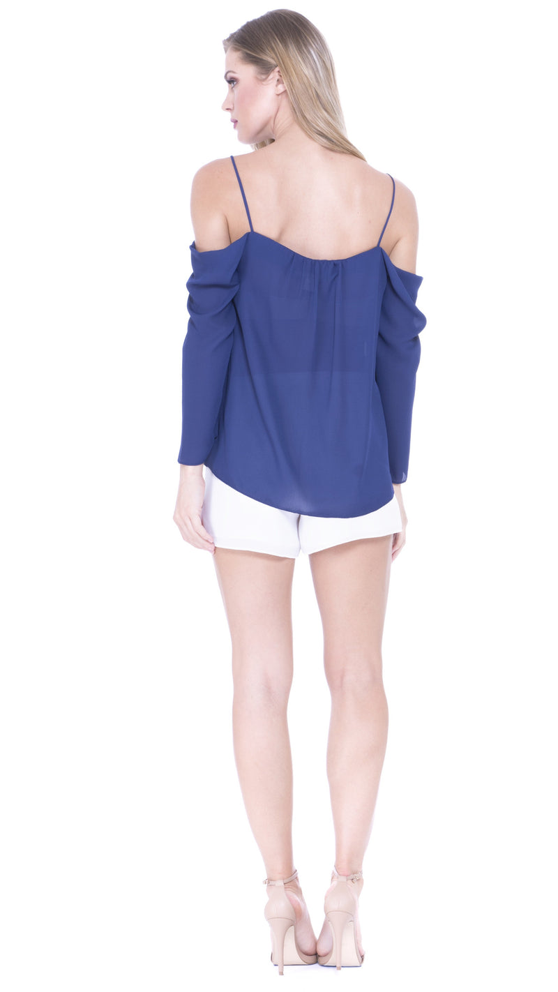 Juliette Draped Sleeves Top