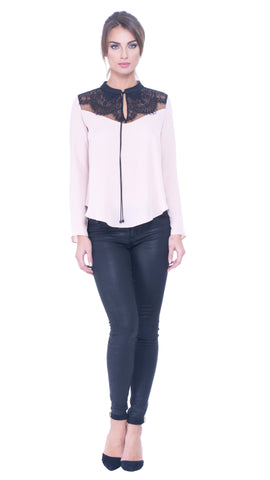 Adelle lace yoke top