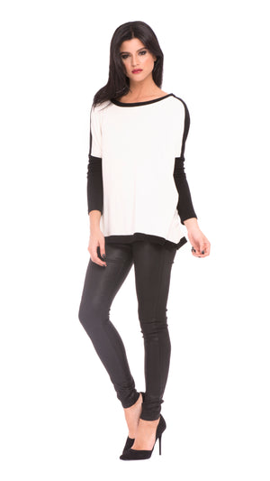 Sophia Two-Tone Top