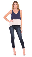 Z Mia Two Tone Top