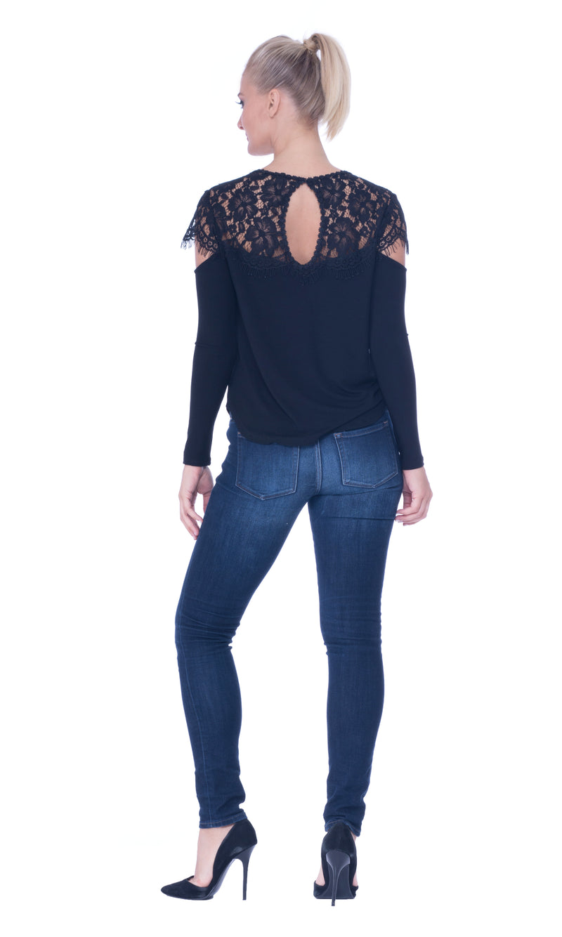 Pam Cut Out Shoulders Top