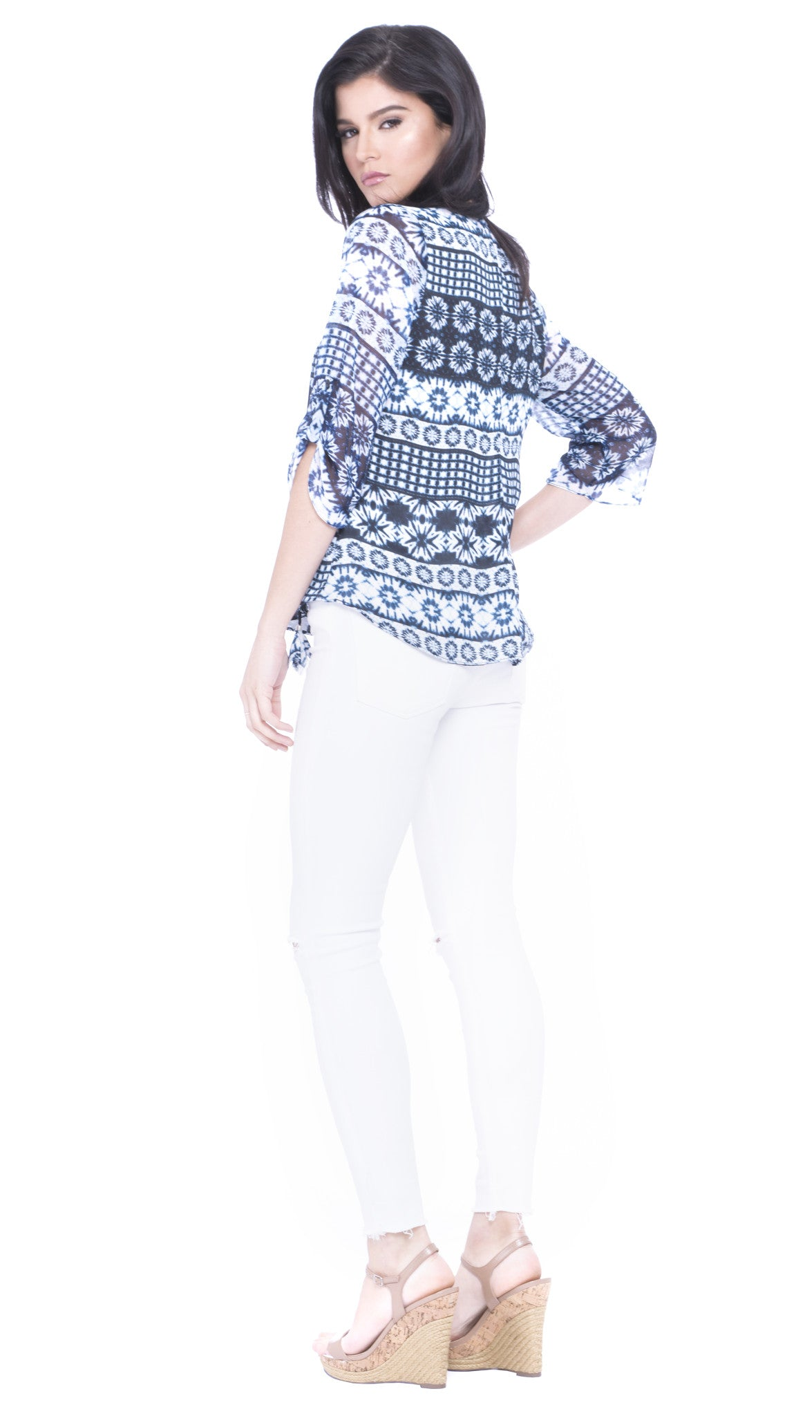 Estefani Printed Top