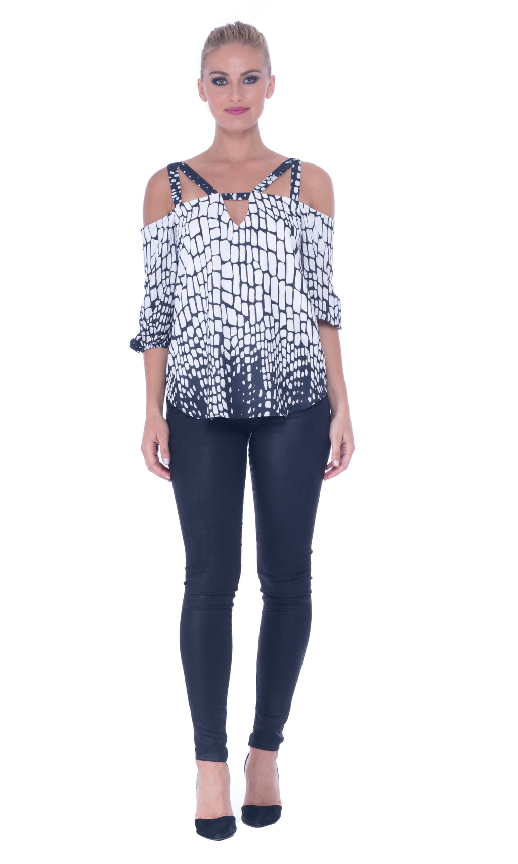 Printed Strappy Top