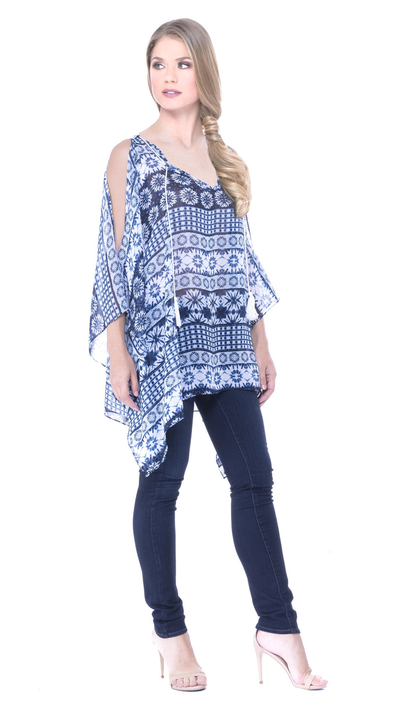 Estefani Cut-Out Shoulder Tunic
