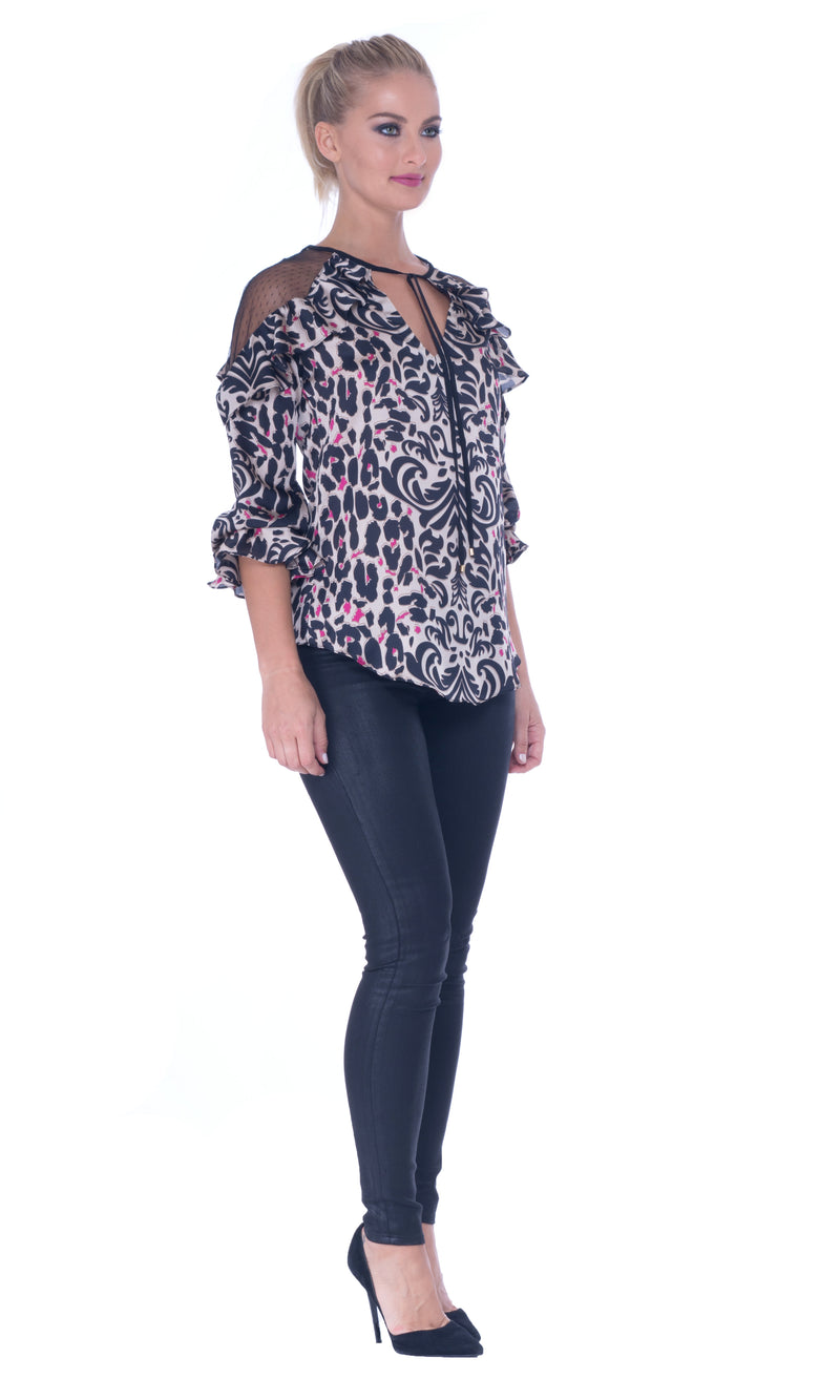 Printed Satin Top