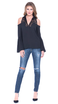 Cecile Cold Shoulder Top