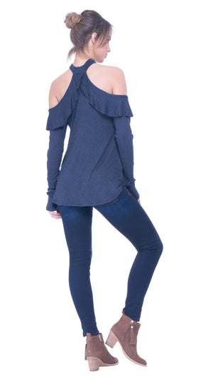 Sahara cold shoulder top
