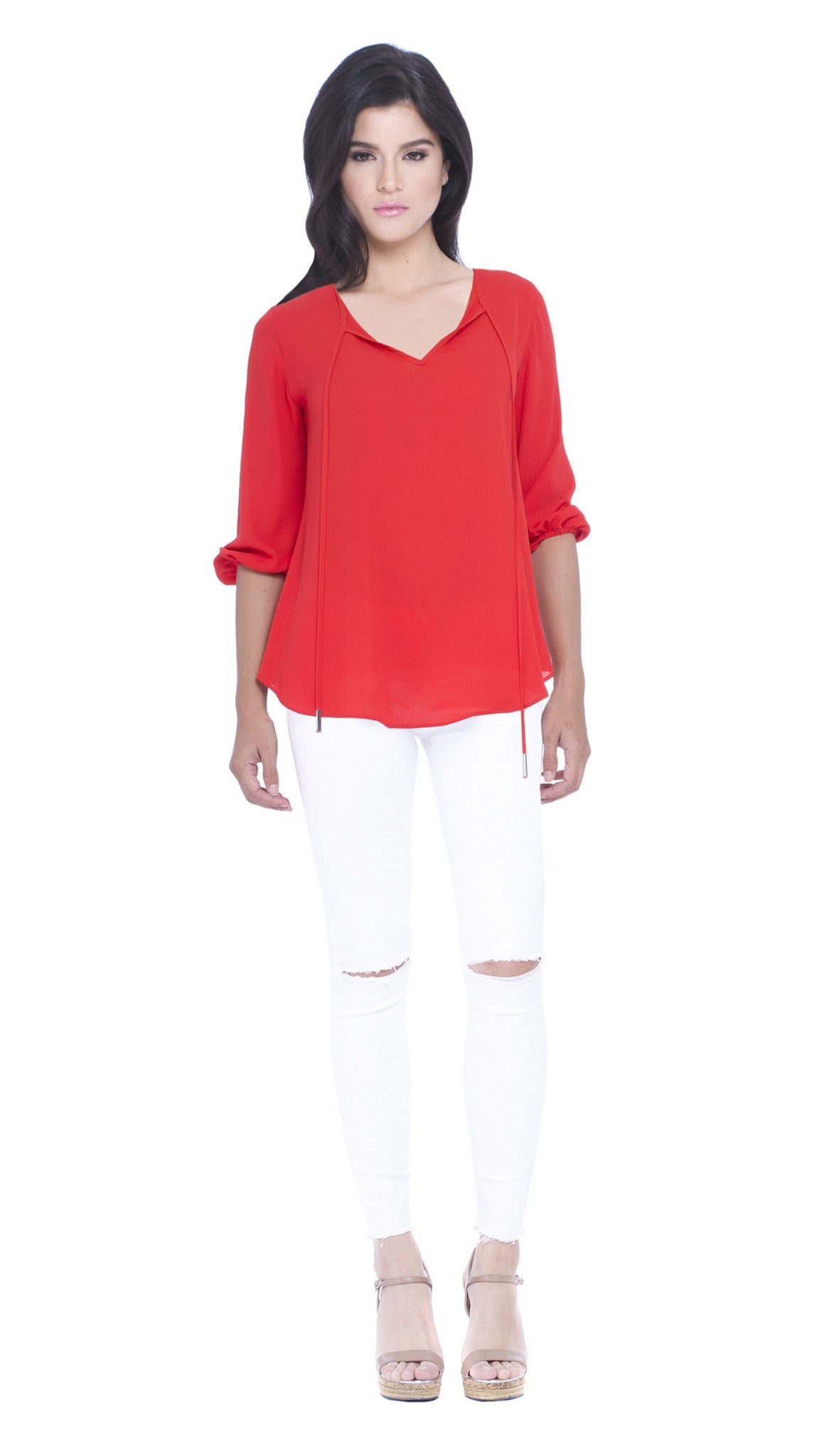 Julliete Three Quarter Sleeves Top