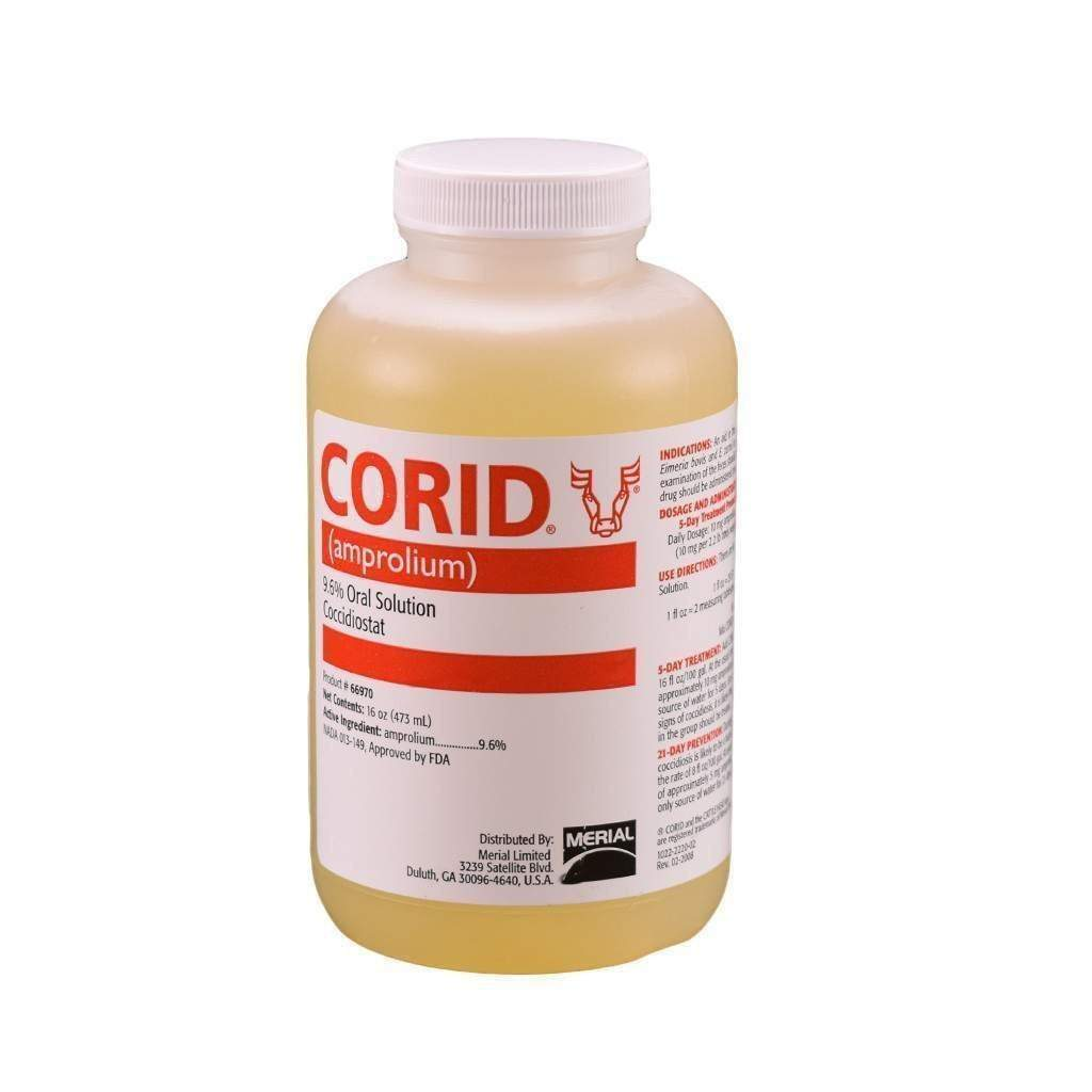MERIAL CORID 9.6% ORAL SOLUTION, Feeders Grain and Supply Inc.