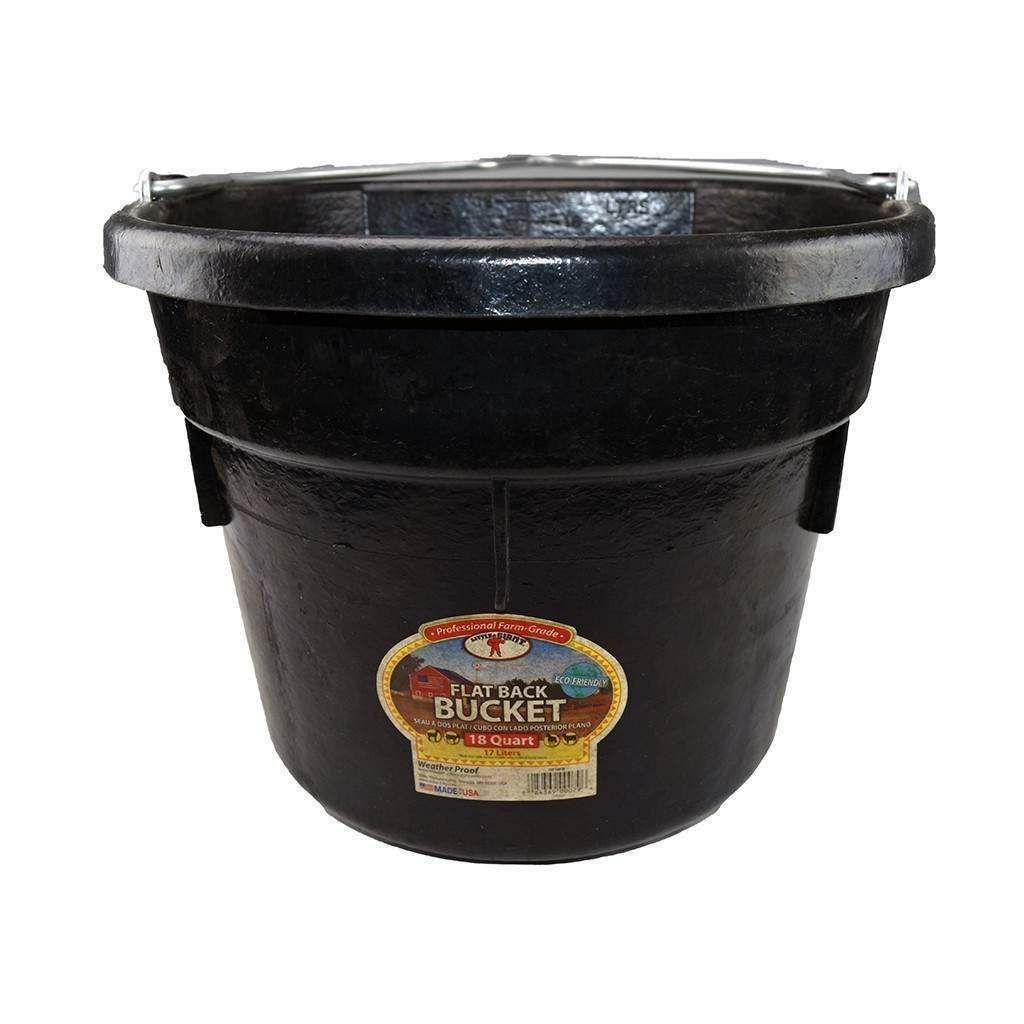 LITTLE GIANT Little Giant 18 Quart Rubber Flatback Bucket, Feeders Grain and Supply Inc.