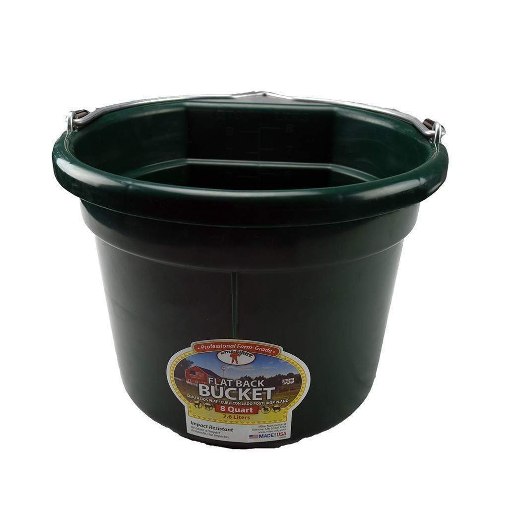 LITTLE GIANT Little Giant 8 Quart Flatback Plastic Bucket, Feeders Grain and Supply Inc.