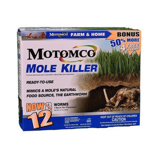 MOTOMCO Motomco Mole Killer Worms, Feeders Grain and Supply Inc.