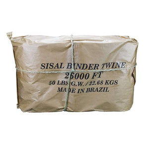 JONES SISAL BINDER TWINE - 26,000 NATURAL, Feeders Grain and Supply Inc.