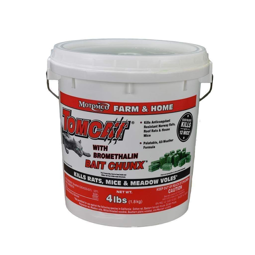 MOTOMCO Tomcat Bromethalin Bait Chunx, Feeders Grain and Supply Inc.