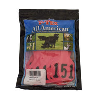 Y-TEX Y-TEX LARGE HOT PINK 4 *  NUMBERED EAR TAG SYSTEM, Feeders Grain and Supply Inc.