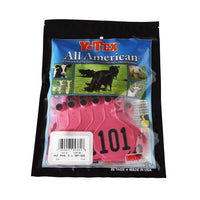 Y-TEX Y-TEX MEDIUM HOT PINK 3 * NUMBERED EAR TAG SYSTEM, Feeders Grain and Supply Inc.