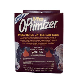 Y-TEX Y-TEX OPTIMIZER INSECTICIDE EAR TAGS, Feeders Grain and Supply Inc.