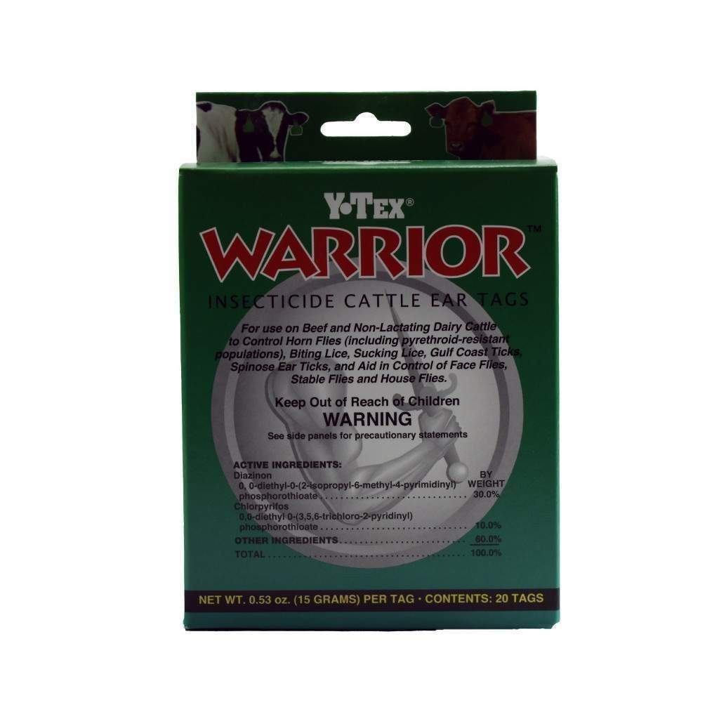 Y-TEX Y-TEX WARRIOR INSECTICIDE EAR TAG, Feeders Grain and Supply Inc.