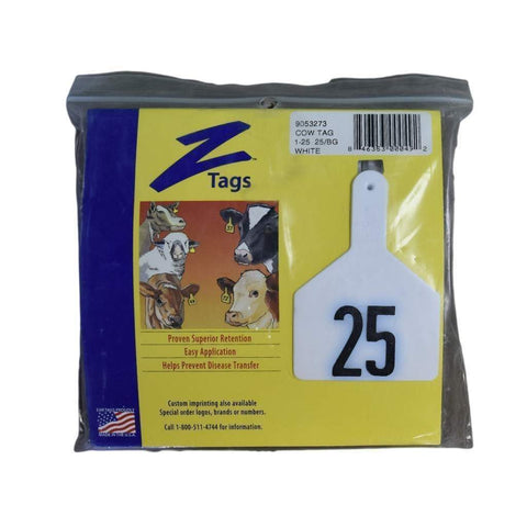 Z TAG COW NUMBERED EAR TAGS