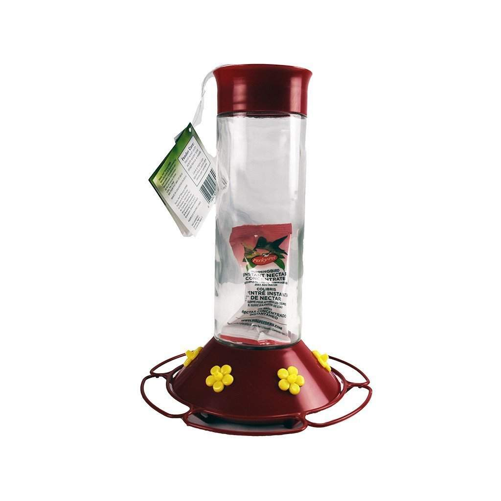 PerkyPet PERKY-PET GLASS HUMMINGBIRD FEEDER, Feeders Grain and Supply Inc.