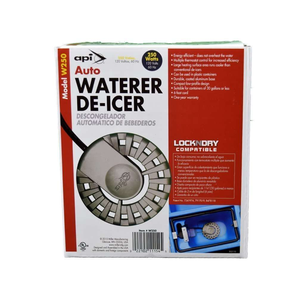 ALLIED PRECISION INDUSTRIES API 250 Watt Auto Drinker De-Icer, Feeders Grain and Supply Inc.