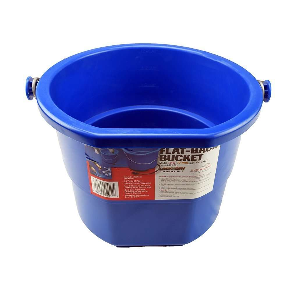 ALLIED PRECISION INDUSTRIES API 10 Quart Heated Flatback Bucket, Feeders Grain and Supply Inc.