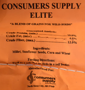 Consumers Supply Elite Wild Bird Feed
