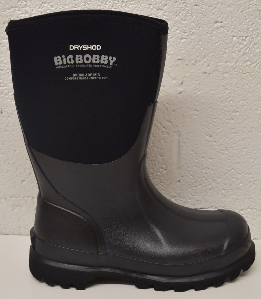 Dryshod Dryshod Men's Big Bobby Mid: Black/Grey (BBB-MM-BK), Feeders Grain and Supply Inc.