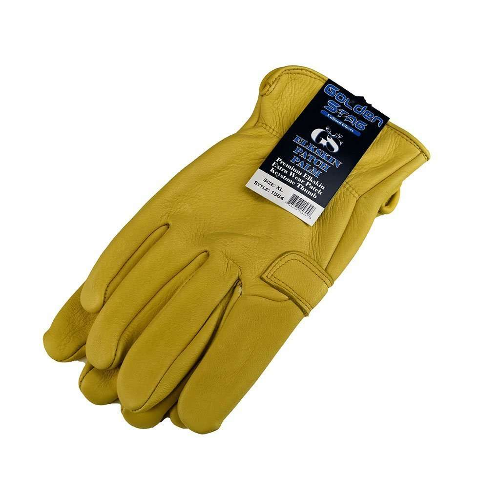 Golden Stag Golden Stag Elkskin Patch Palm Unlined Gloves, Feeders Grain and Supply Inc.