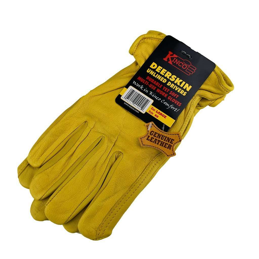 Kinco Kinco Deerskin Unlined Drivers Gloves, Feeders Grain and Supply Inc.