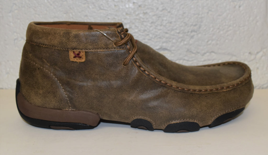 Twisted X Men's Original Chukka Driving Moc: Bomber/Bomber (MDM0003), Feeders Grain and Supply Inc.