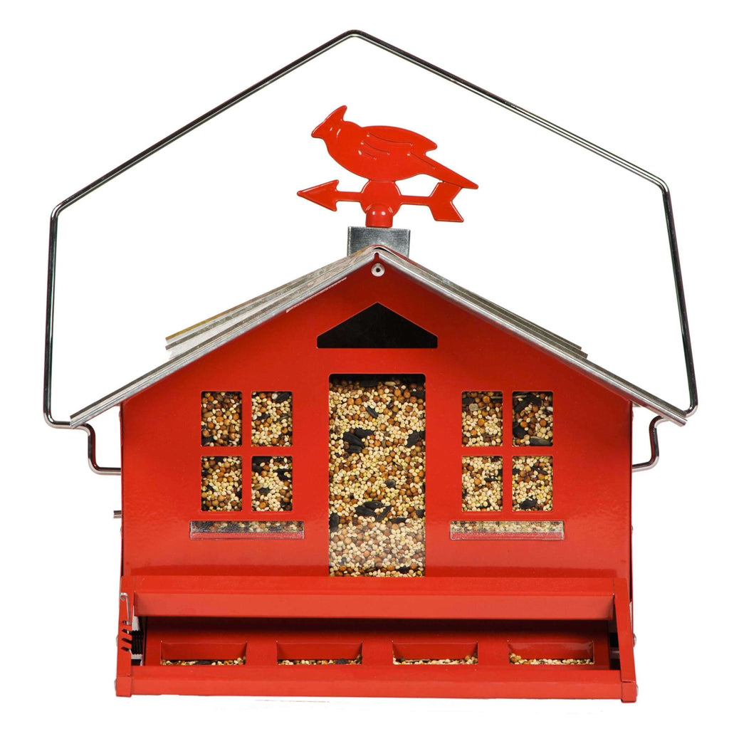 Woodstream Corp. Perky-Pet Squirrel-Be-Gone Red Barn Wild Bird Feeder, Feeders Grain and Supply Inc.
