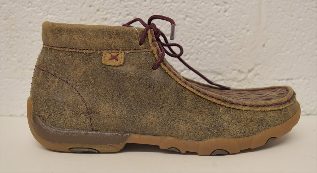 Twisted X Woman's Chukka Driving Moc: Bomber/Mahogany (WDM0071), Feeders Grain and Supply Inc.