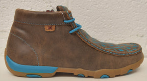 Twisted X Women's Chukka Driving Moc: Brown/Turquoise (WDM0072), Feeders Grain and Supply Inc.