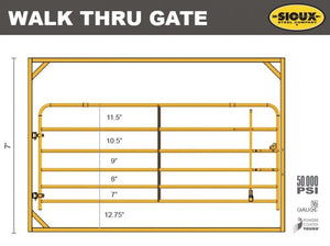 "Sioux Steel 10' Corral Panel 1.66"" Walk Thru"