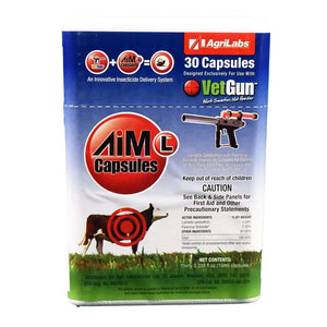 Agrilabs AiM-L VetCaps for use with VetGun, Feeders Grain and Supply Inc.