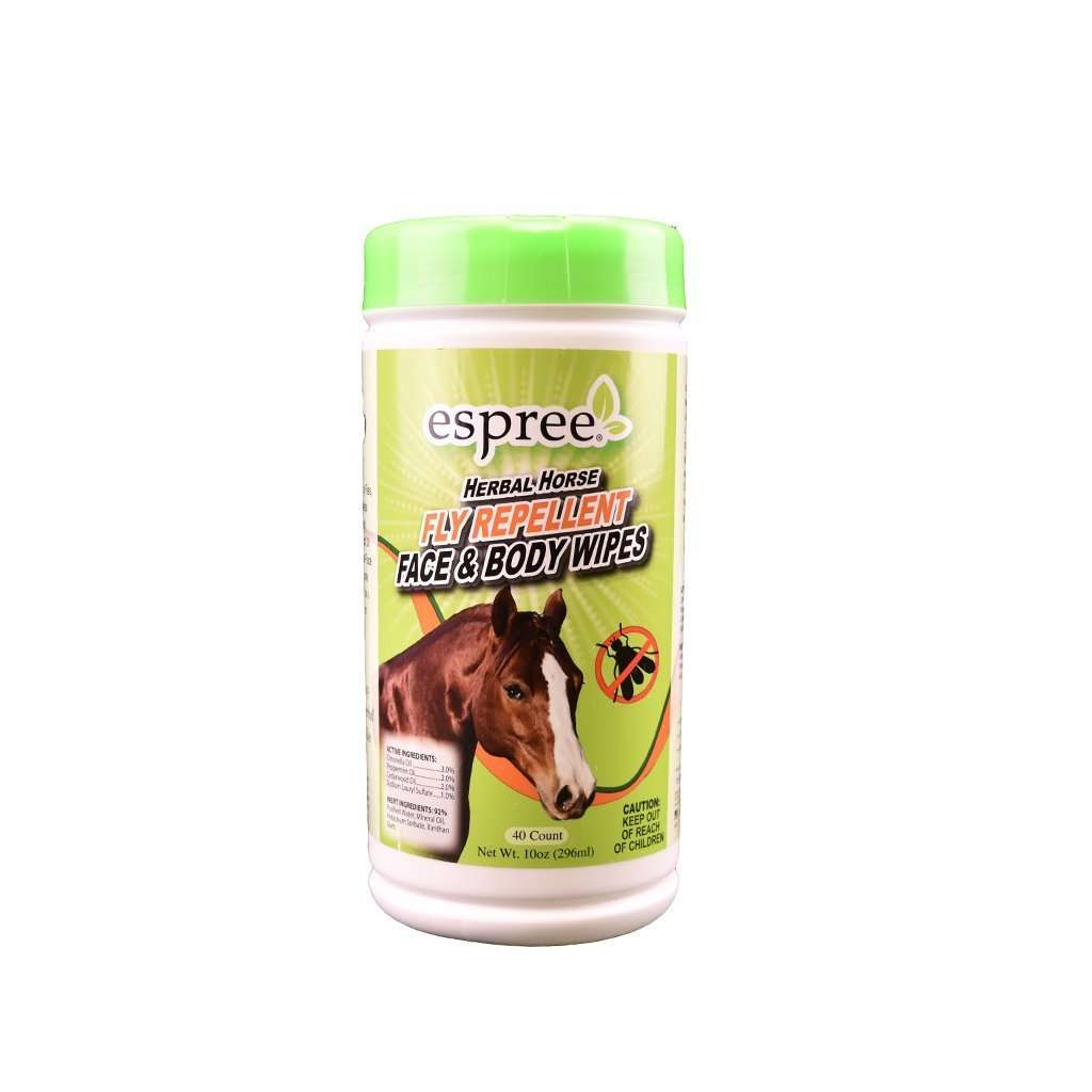 Espree Espree Herbal Horse Fly Repellent Face & Body Wipes, Feeders Grain and Supply Inc.