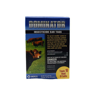 MERCK Merck Dominator Insecticide Ear Tags, Feeders Grain and Supply Inc.