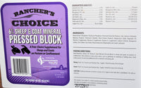 Rancher's Choice 6% Sheep and Goat Mineral Pressed Block
