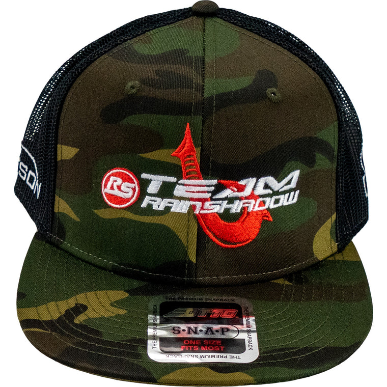 Team RainShadow Maui Hook Otto Flat Bill Camo Hat