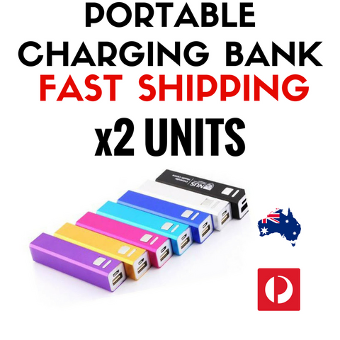 Portable Charging Bank - 2 Pack