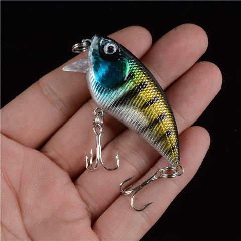 Direct Selling Hot Sale 1PCS Hard Crank 3D Eyes Bait Artificial Lures Crankbait