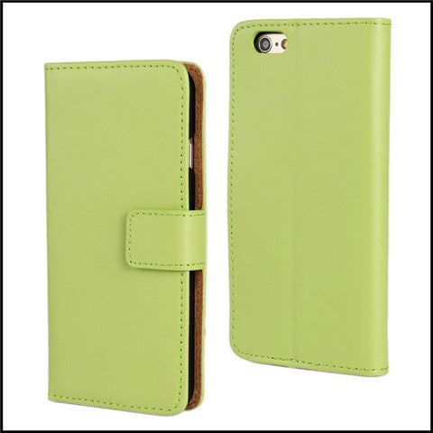 Green 6 Plus Leather Wallet Case
