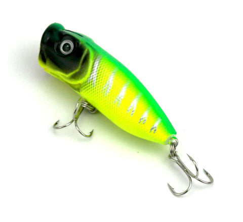 1pc Fishing Topwater Fishing Lures 10 Colors Floating Popper Lure Hooks Crank Baits Tackle Tool 6.5cm 11g fishing wobblers