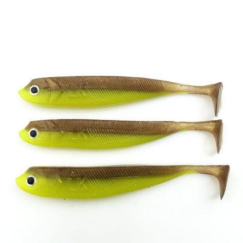 New 4pcs/lot  100mm/7.66g Vivid Soft Lures Artificial Loach Fishing Bait Swimbait Fishing Worm Fishing Tackle Fishing Lures 051