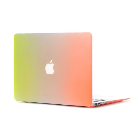 Matte Rainbow Hard Protector Case For MacBook w/ Keyboard Cover & Screen Protect