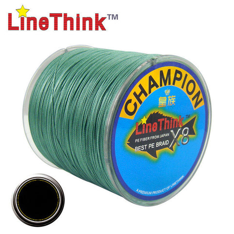 300M GHAMPION LineThink Brand 8Strands/8Weave Best Quality Multifilament PE Braided Fishing Line Fishing Braid  Free Shipping
