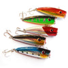 "Image of 5pc Fishing Lures 5 colors Popper Lure 2.9""-7.3cm/0.39oz-11g fishing bait 6# hig"