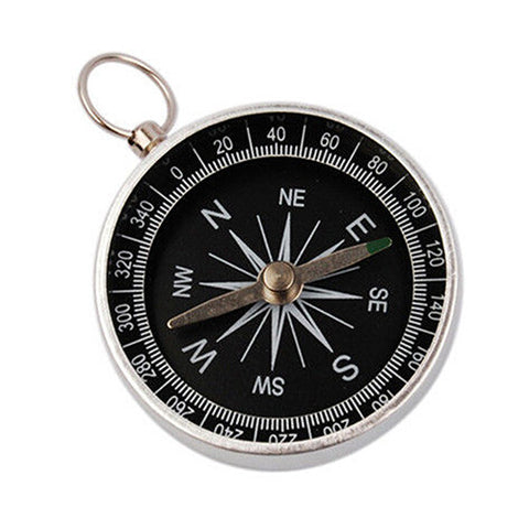 Silver Mini Portable Pocket Compass