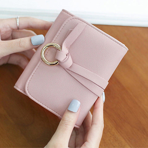 New Design Women Geometric Casual Hasp Short Wallet